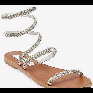 Steve Madden rhinestone flat sandals